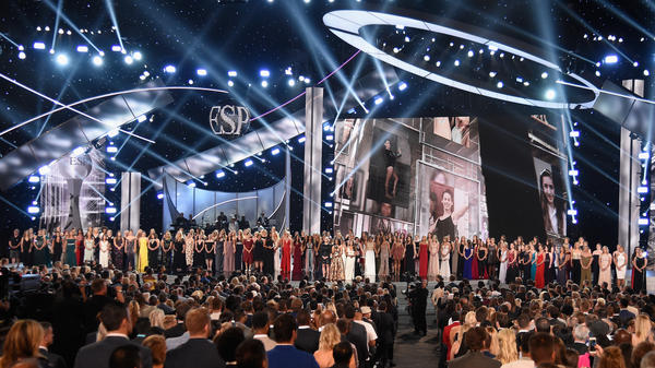 The Arthur Ashe Award for Courage was presented to the survivors of Larry Nassar's abuse at the 2018 ESPYS.
