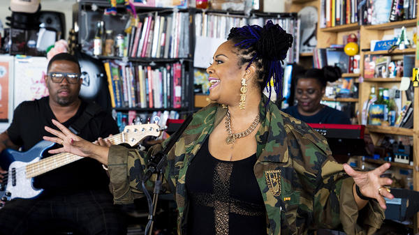 Lalah Hathaway performs a Tiny Desk Concert on June 12, 2018.