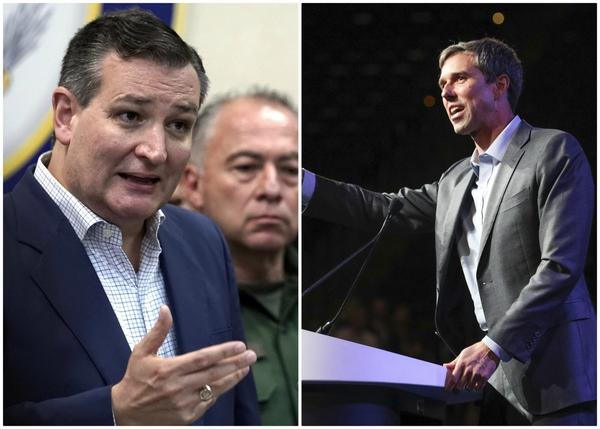 Sen. Ted Cruz, R-Texas, (left) and his challenger Beto O'Rourke. (David J. Phillip, file/AP and Richard W. Rodriguez/AP)