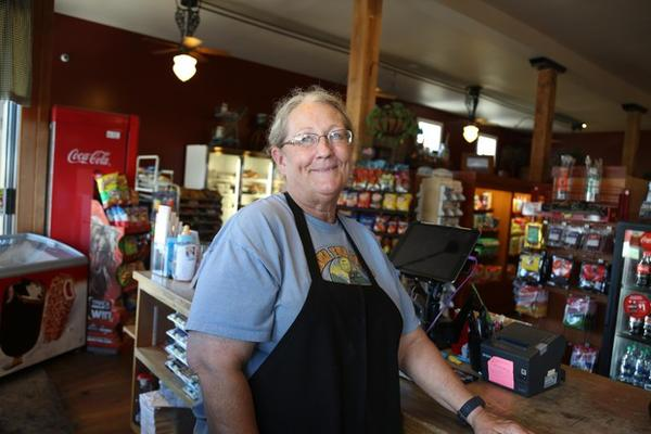<p>Charla Kozelisky works at Kramer's Market in Dufur, Oregon. She said it was devastating watching all the farmers in Wasco and Sherman Counties lose their wheat crop.</p>