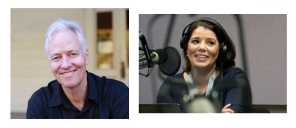 Host and producer John Biewen, left, is joined by Celeste Headlee, right, for season three of 'Scene on Radio'