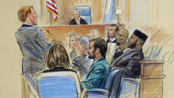 Seifullah Chapman — seen here third from right, in a court sketch from a hearing in 2004 — should be freed on supervised release, a federal judge has ruled.