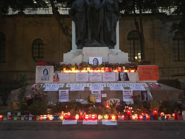 On the 16th of every month, supporters of Daphne Caruana Galizia mark the day of her murder with a vigil across from the courthouse in Valletta.