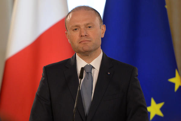 Malta Prime Minister Joseph Muscat gives a press conference on June 27, in Valletta.