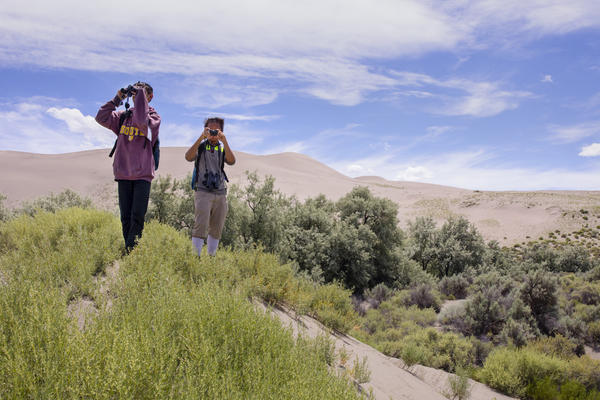 Students explore Bruneau Sand Dunes in Idaho as part of the two-week camp.