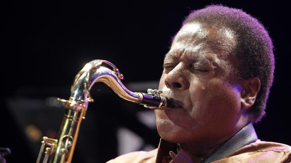 "Jazz musician Wayne Shorter performs on the stage of the 51st edition of ""Jazz a Juan"" a Jazz music festival on July 15, 2011 in Juan-les-Pins, Antibes."