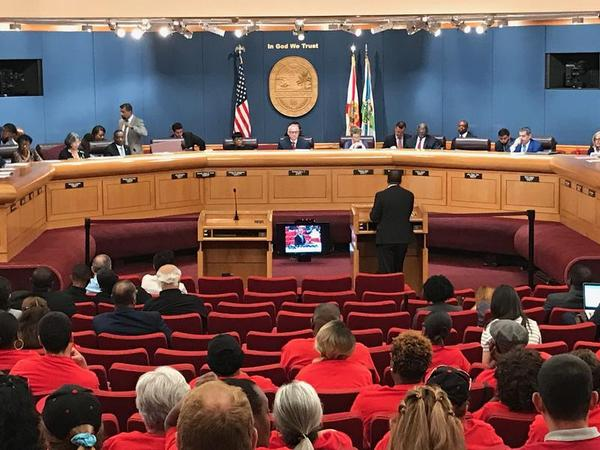 Miami International Airport concession workers are now afforded the county's living wage.