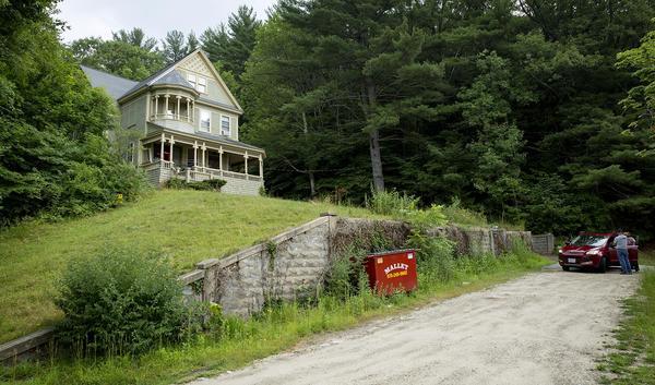 The Victorian house in Orange where Sissy Spacek character, Ruth Deaver, lives. (Robin Lubbock/WBUR)