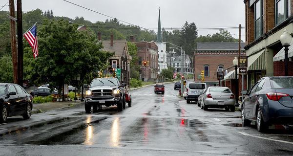 Main Street in Orange. (Robin Lubbock/WBUR)