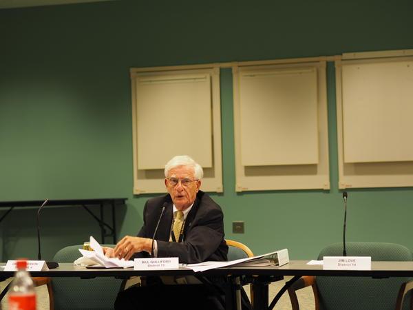 Councilman Bill Gulliford at Tuesday's opioid meeting.