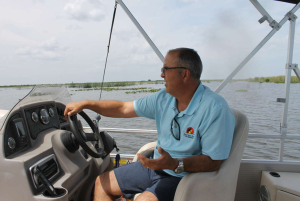 Ramon Iglesias, manager of Roland and Mary Ann Martins Marina in Clewiston, said the toxic algae bloom is affecting his business.