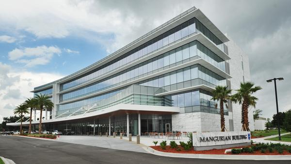 The five-story, 190,000-square-foot Mangurian Building  will serve as a state-of-the-art treatment center for oncology, hematology, neurology and neurosurgery at Jacksonville's Mayo Clinic.
