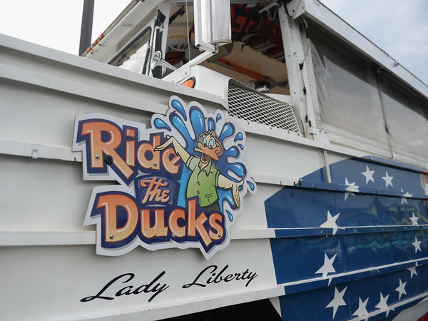 An amphibious boat is seen at Ride The Ducks on July 20, in Branson, Mo. On Friday, the National Transportation Safety Board released a preliminary report of video captured in the minutes leading up to the deadly accident.