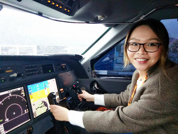 30-year-old Dai Xuan, who works as the editor of a luxury magazine in Shanghai – and is pictured at the helm of a private jet - says the reason why she hasn't married yet is economic. She says she loves her job and she makes more than enough to support herself, which has made her pickier about who she dates.