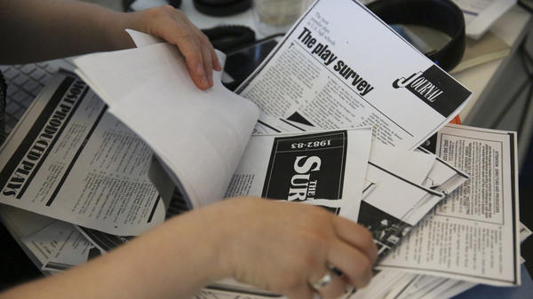 The NPR Ed team analyzed more than 100 pages of data from old issues of <em>Dramatics </em>magazine.
