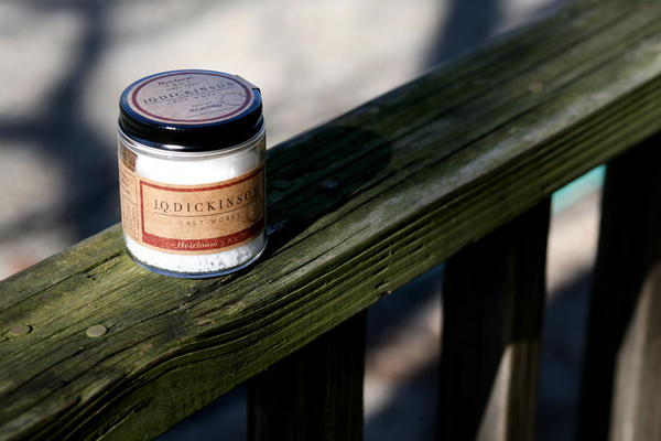 A 3.5-ounce jar of finished salt from J.Q. Dickinson.