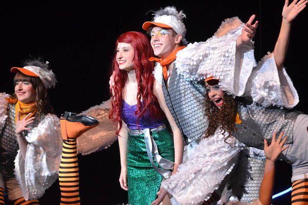 Students perform in <em>The Little Mermaid</em>, the sixth-most popular musical in the 2016-2017 school year.