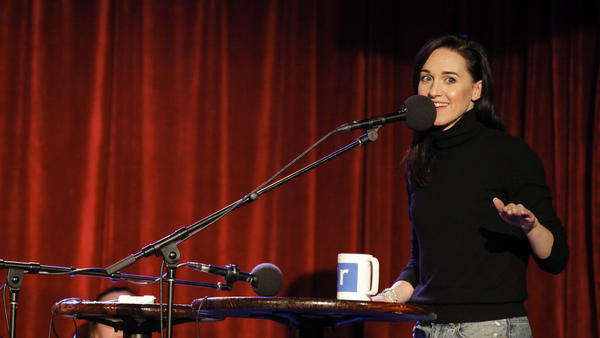 Lena Hall, who won a Tony for her performance in Hedwig and the Angry Inch, guests on NPR's Ask Me Another at The Bell House in Brooklyn, NY.