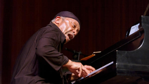 Cecil Taylor performs at Lincoln Center's Alice Tully Hall in 2002.