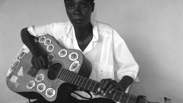 Ronnie Moipolai, an artist featured on the compilation <em>I'm Not Here to Hunt Rabbits</em>.