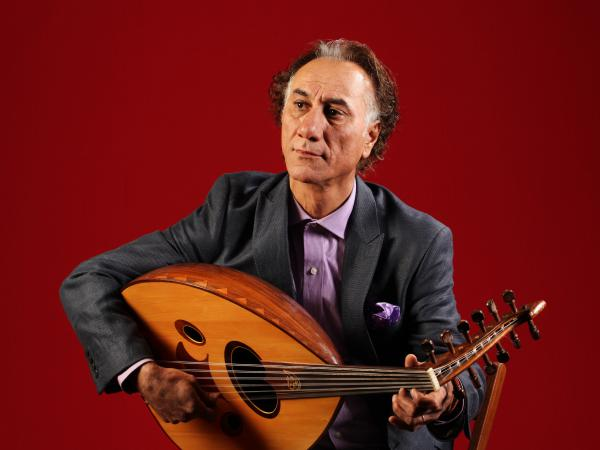 Iraqi-born, New Mexico-based composer and <em>oud</em> player Rahim Alhaj.