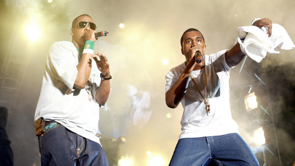 Jay-Z and Kanye West perform at Summer Jam 2005 at Giants Stadium in East Rutherford, N.J.