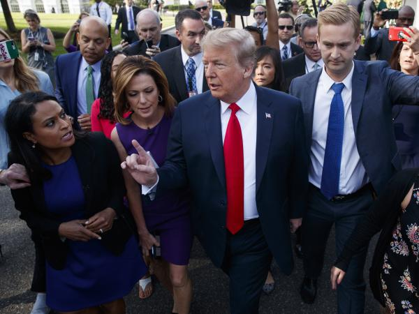 In separate remarks to reporters at the White House on Friday, President Trump insisted he wanted to see Congress pass legislation that would end his administration's policy of separating migrant families at the border.
