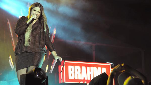 Sertanejo singer Marília Mendonça, 22, sings to a crowd of thousands at Expo Londrina, an agricultural fair in the southern Brazilian city of Londrina.