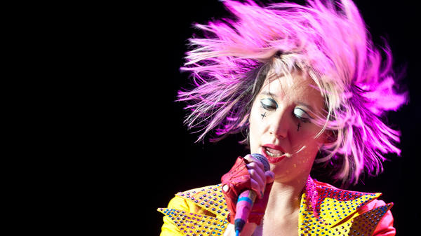 Karen O of the Yeah Yeah Yeahs during her performance at the 2013 Sweetlife Food and Music Festival at Merriweather Post Pavilion in Columbia, MD.