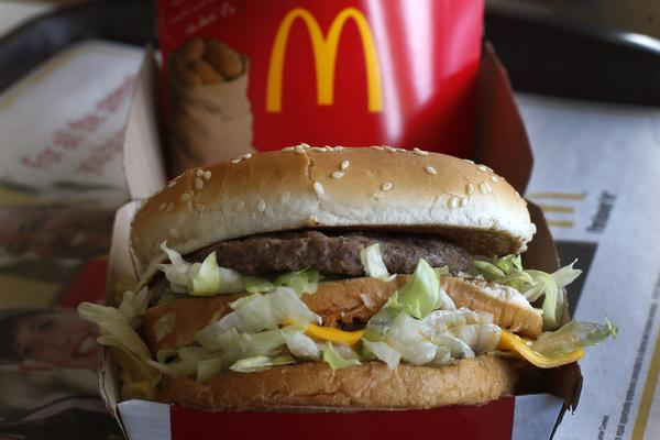 In this Jan. 21, 2014, file photo, a McDonald's Big Mac sandwich is seen at a McDonald's restaurant in Robinson Township, Pa. (Gene J. Puskar, File/AP)