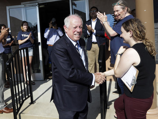 Former Gov. Phil Bredesen,  campaigns in Memphis, Tenn., in his bid for Senate.