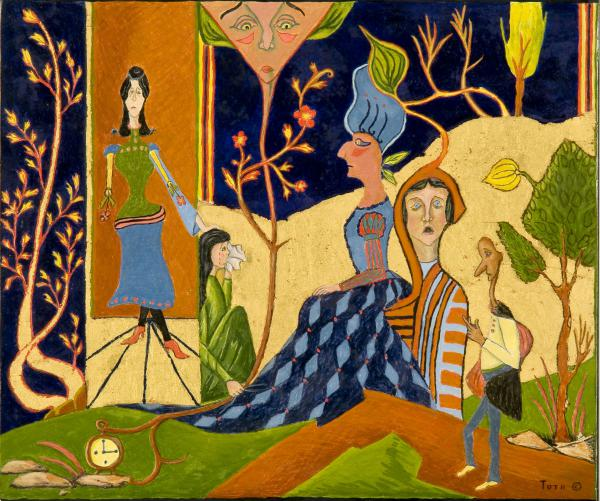 Untitled, completed May 16, 1982 - Egg tempera and gold leaf on panel