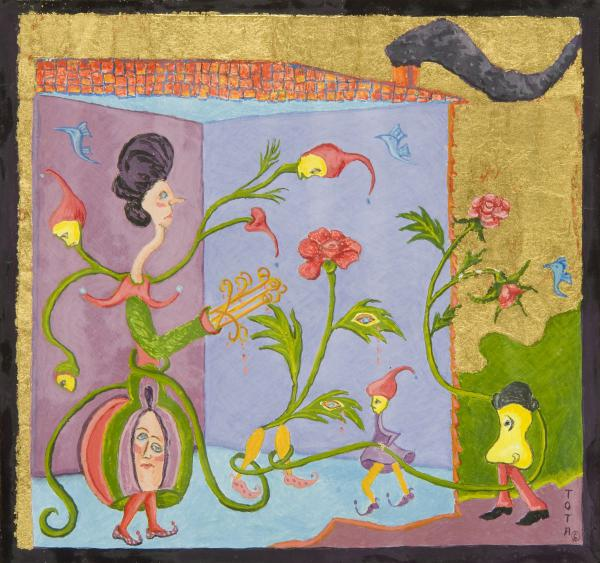 Untitled, completed May 26, 1983 - Egg tempera and gold leaf on panel