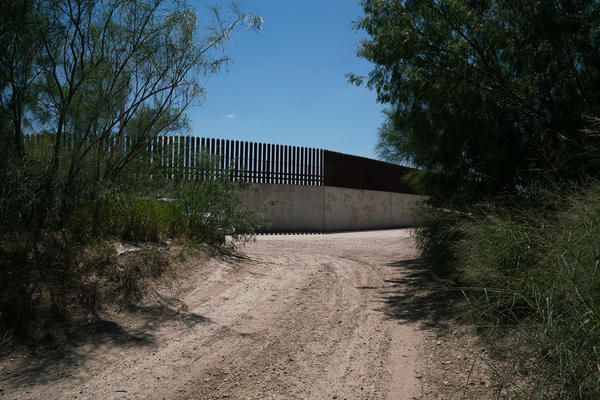 This portion of the border wall, near McAllen, Texas, was built about 10 years ago.