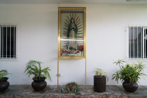 La Casa del Migrante, a Catholic shelter in Matamoros, Mexico, is run by volunteers. Each morning starts with the migrants saying grace over breakfast.