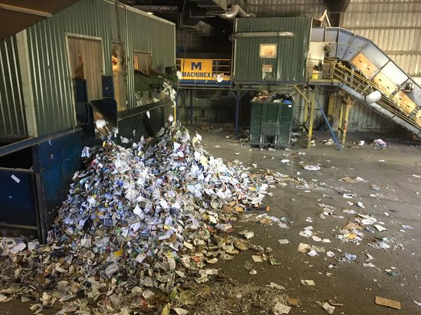 Recyclables from Chittenden County are sorted at this facility in Williston.