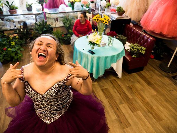 LGBTQ activist and drag artist Oscar Garcia also does choreography for quinceaneras.