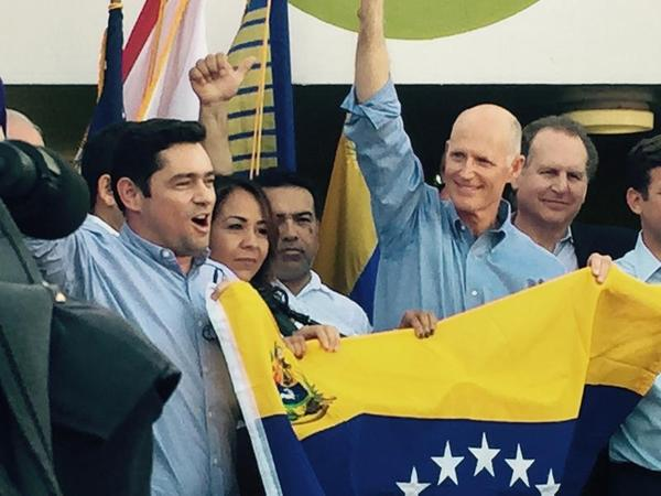 Gov. Rick Scott has met several times with Venezuelan opposition leaders in South Florida.