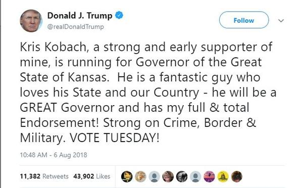 President Donald Trump's tweet on Friday.