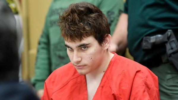 Florida school shooting suspect Nikolas Cruz during a Broward court hearing in April. Prosecutors have released portions of his interrogation with Broward homicide detectives.