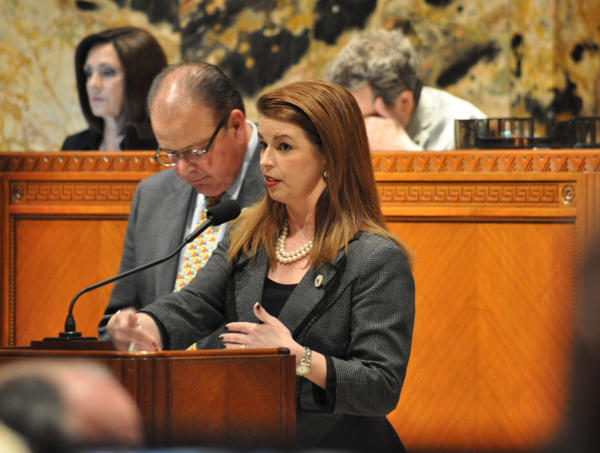 Rep. Julie Stokes, R-Kenner, authored a bill that would set policies for employers to detect victims of human trafficking.