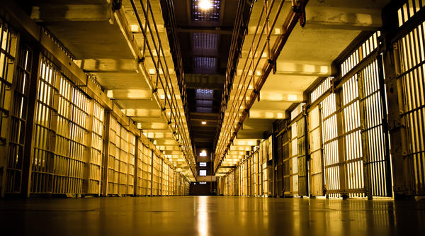 Photo illustration taken inside Alcatraz prison in 2009. Students at the U of I are working to create virtual scenarios to help formerly incarcerated people adapt to life outside prison.
