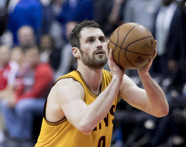 Kevin Love of the Cleveland Cavaliers has chosen to stay on the team, even though LeBron James has left.