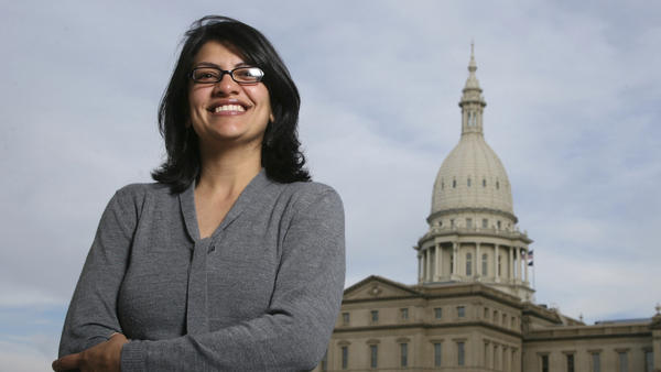 Rashida Tlaib (shown in 2008) served as a Michigan state legislator for six years. On Tuesday, Democrats picked her to run unopposed for the congressional seat held by former Rep. John Conyers for more than 50 years. Tlaib would be the first Muslim woman in Congress.