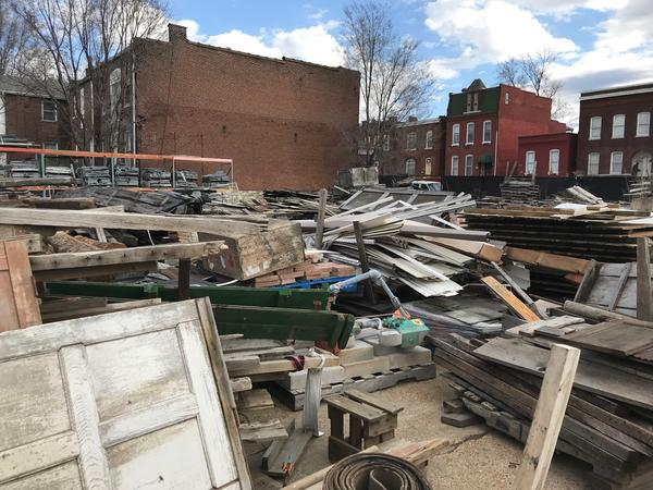 An environmental collaborative aims to remove vacant properties, plans to salvage materials from 30 buildings in north St. Louis in 2019. Refab, a salvage yard in south St. Louis, is identifying buildings that qualify for deconstruction.