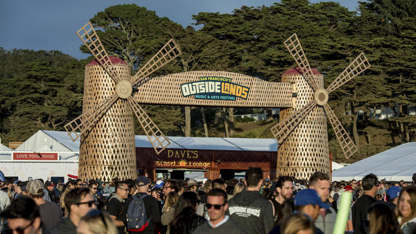 Festival goers attend the 2017 Outside Lands Music Festival at Golden Gate Park on Aug. 12, 2017, in San Francisco.