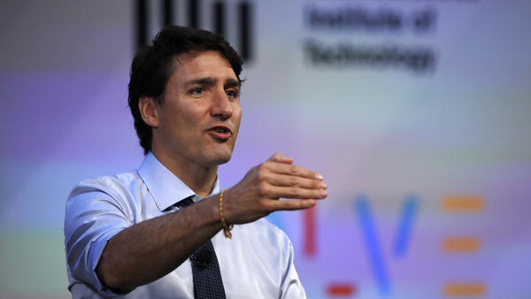 Canadian Prime Minister Justin Trudeau, seen at a conference earlier this year at the Massachusetts Institute of Technology in Cambridge.