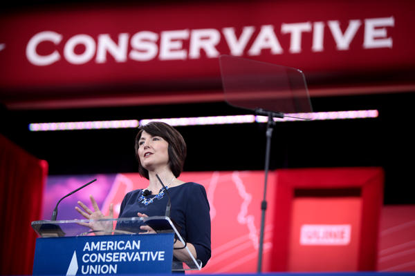 Washington Republican Congresswoman Cathy McMorris Rodgers speaking at the 2015 Conservative Political Action Conference (CPAC) in National Harbor, Maryland.