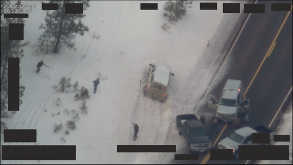 "<p>FBI footage showing the joint FBI and Oregon State Police traffic stop and OSP officer-involved shooting of Robert ""LaVoy"" Finicum.</p>"