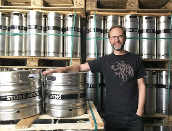 Thomas Tyrell is master brewer at Stone Brewing's Berlin plant. He says the biggest misconception about cans in Germany is that they're environmentally unfriendly, pointing out that their cans carry a deposit just like bottles.